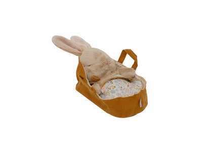 Maileg Fluffy Bunny in Carrycot