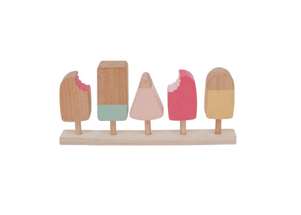 Wooden Popsicle Set
