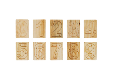 Tactile Number Tiles