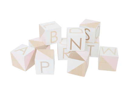 Modern Blocks Pink Alphabet Set
