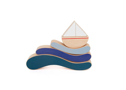 The Wandering Workshop Boat & Waves Stacking Toy
