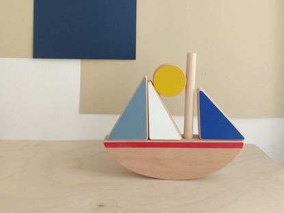 Wandering Workshop Sail Boat Stacking & Balancing Toy