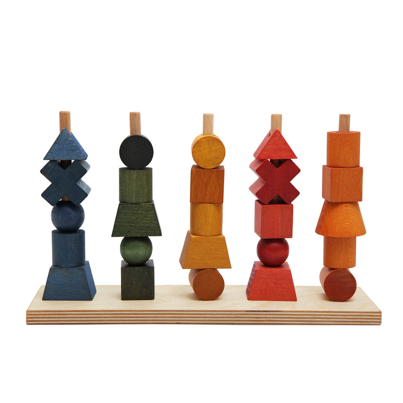 Wooden Story Rainbow Shape Stacking Toy