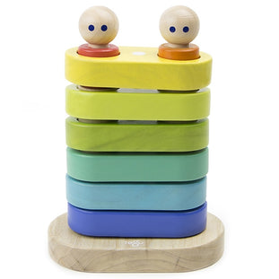 Tegu Blue & Green Magnetic Wooden Stacker