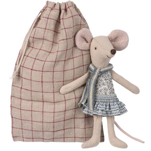 Maileg Big Sister Winter Mouse In Bag