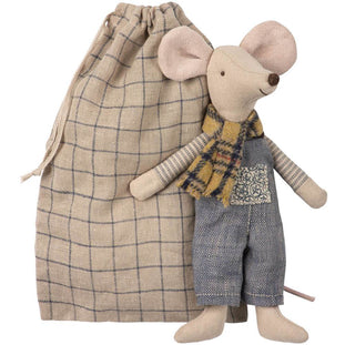 Maileg Winter Father Mouse in Bag