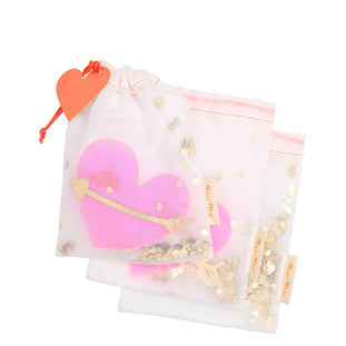 Meri Meri Heart Shaker Medium Gift Bags (Set of 3)