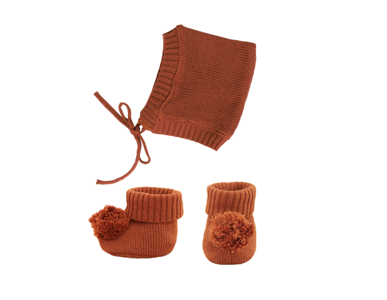 Dinkum Doll Knit Set in Umber
