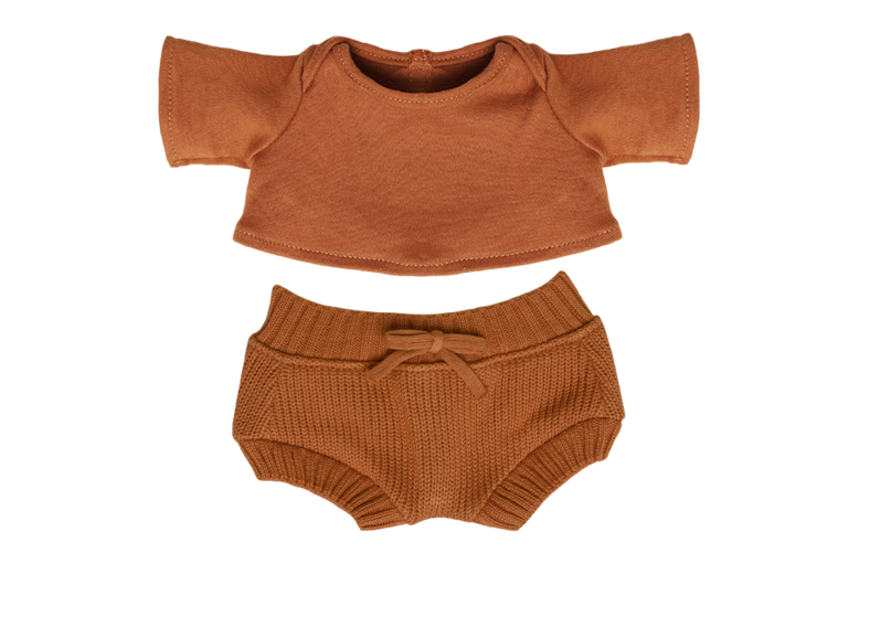 Dinkum Doll Snuggly Set in Toffee