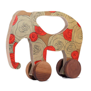 Maria Rose Elephant Push Toy