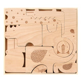 Petit Collage Safari Jumble Wood Puzzle + Play