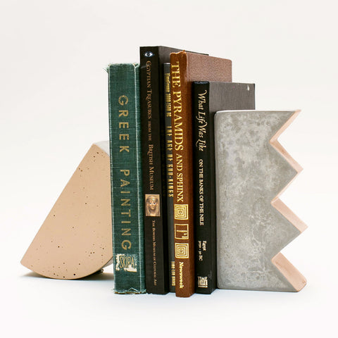 Step Arc Zag Bookends