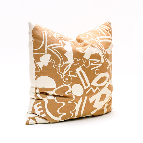 Scatter Pattern Pillow - Cream on Sand