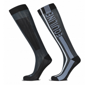 Calcetines Unisex Equiline Cliff con Logo y Lineas