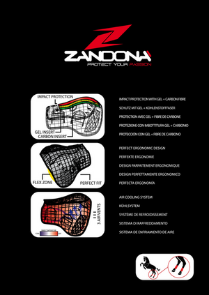 Protector de Patas Zandonà Carbon Air Active-Fit
