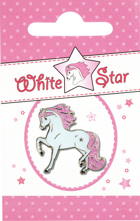 Pin de Caballo con Estrella Happy Ross Blanco Lopetzki
