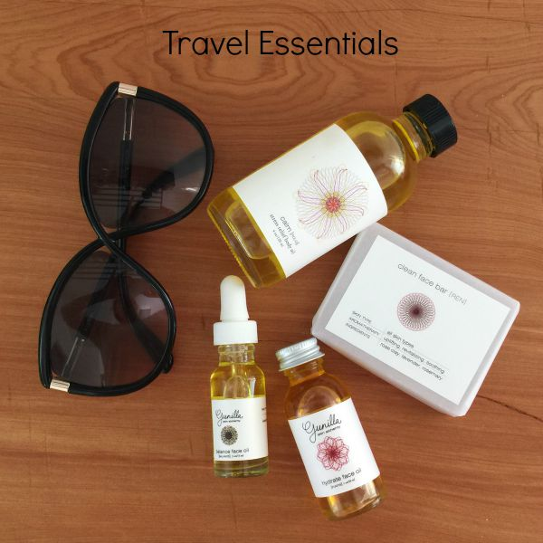 My skin care essentials for traveling