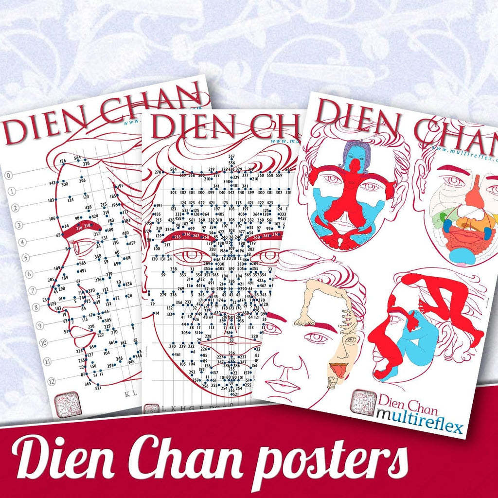 Dien Chan - Facial Reflexology Posters (Set of 3) - The RE  - 1