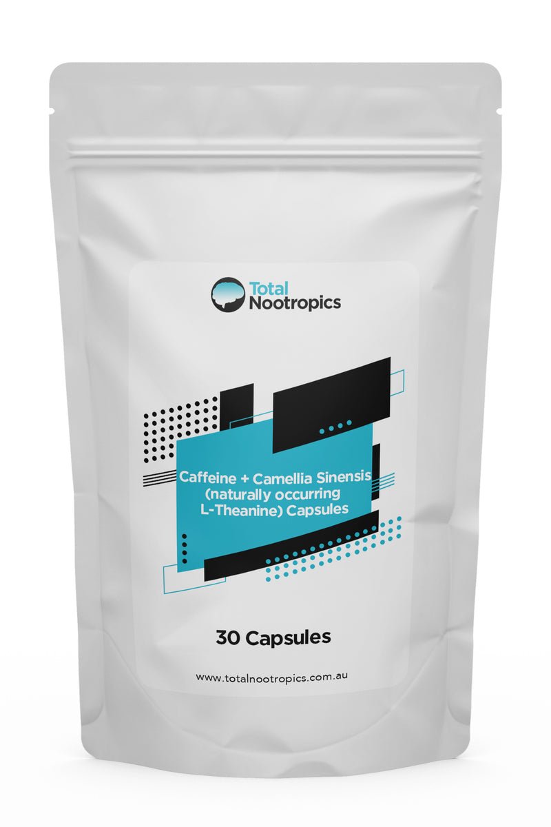 Caffeine + Camellia Sinensis (naturally occuring L-Theanine) Capsules
