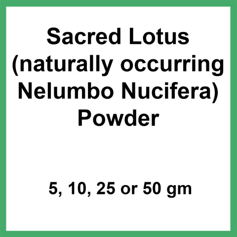 Sacred Lotus (naturally occurring Nelumbo Nucifera) Powder