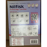 Nilfisk Extreme and GM200 to GM500 King and Elite Self Closing Synthetic Dustbags