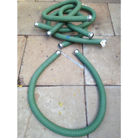Nilfisk GM82 Green Rubber Reinforced 2m x 50mm Bare Industrial Vacuum Cleaner Hose