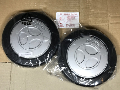 Nilfisk ACTION A100 A200 A300 and A400 Vacuum Cleaner PAIR Rear Wheels - TVD The Vacuum Doctor