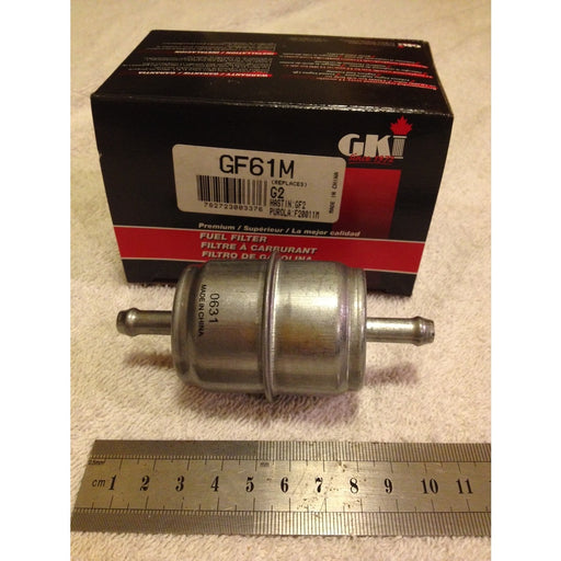GKI Manufactured 5/16 In-line Combustion Engine Fuel Filter GF61M - The Vacuum Doctor