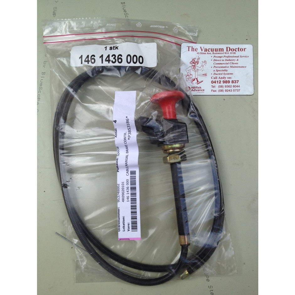 Nilfisk SR1500 Rider Sweeper Manual Front Brake Cable