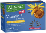 Natural Selections Nourishing Health 100g Lightly Scented Bar Soap with Vitamin E and Honey - TVD The Vacuum Doctor