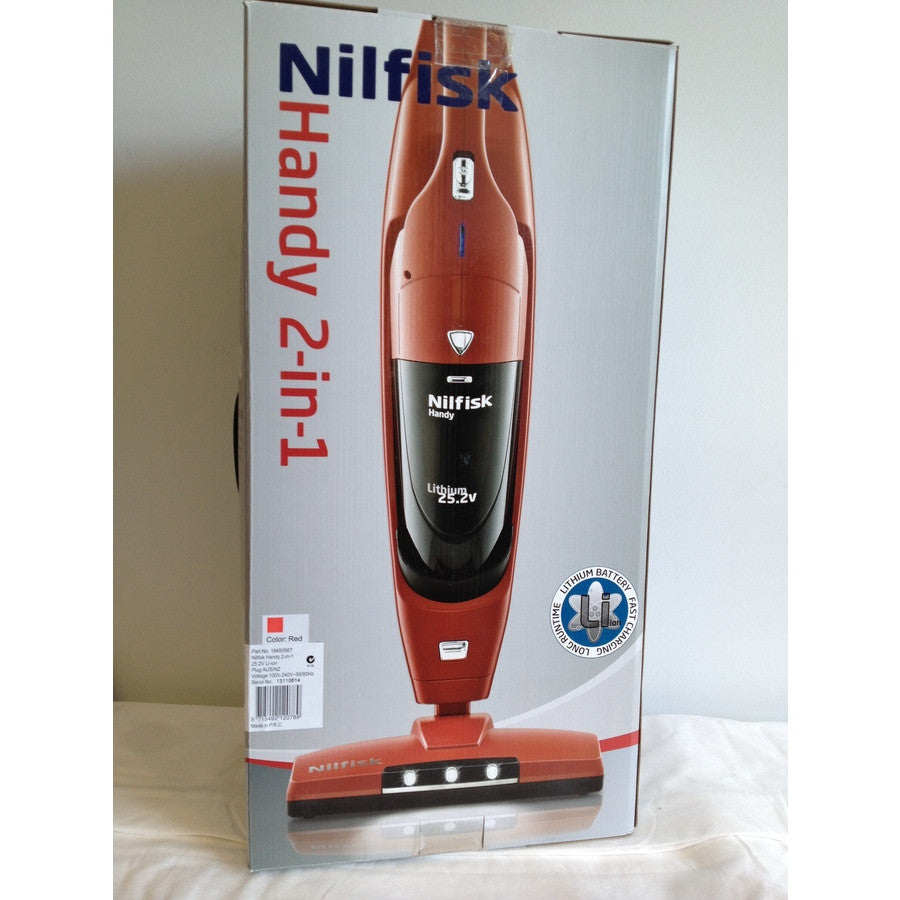 Nilfisk Handy 2-IN-1 25.2 Volt Li Ion Stick Vac With Dustvac DISCONTINUED - TVD The Vacuum Doctor