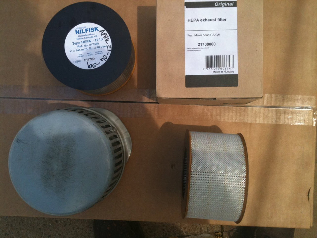 Nilfisk and Tellus GS and GM Motor Commercial/Industrial Replacement HEPA Filter
