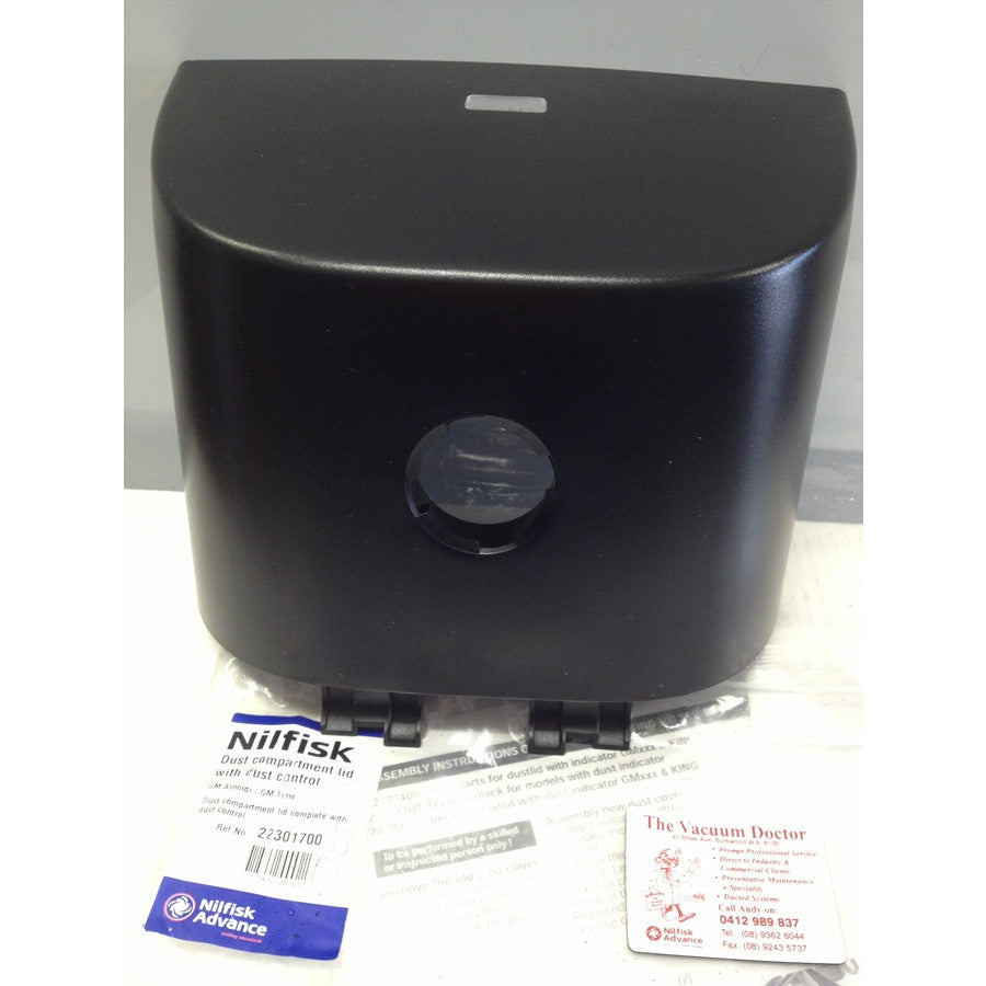 Nilfisk GM500 King Black Front Cover With Dustbag Indicator OBSOLETE - TVD The Vacuum Doctor