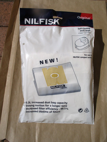 Nilfisk C220 Compact Vacuum Cleaner Dustbags OBSOLETE USE 78602600 - TVD The Vacuum Doctor