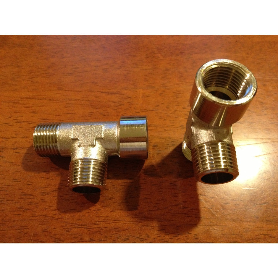 Gerni and Nilfisk-ALTO Threaded Stainless Steel T Junction For Pressure Washer - TVD The Vacuum Doctor