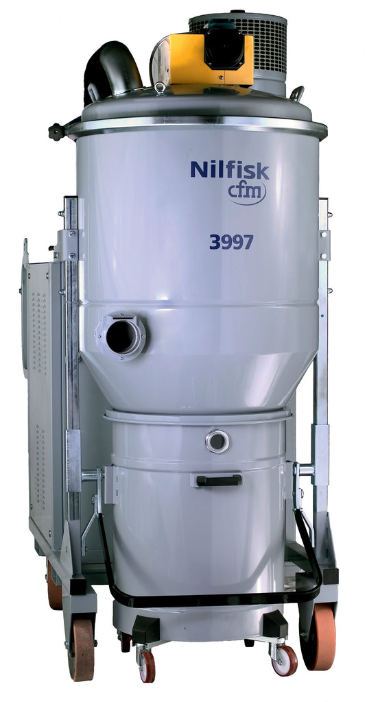 NilfiskCFM 3997C 22Kw 3Ph 62kPa HD Industrial Vacuum Cleaner With Compressed Air Cleaned Cartridge Filters - TVD The Vacuum Doctor