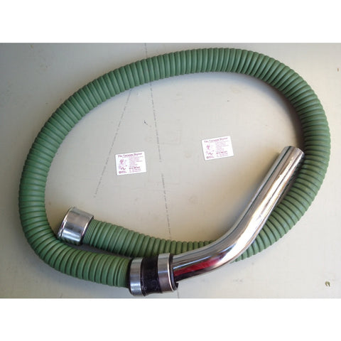 Nilfisk 2m x 50mm Green Rubber Wire Reinforced Hose Complete For GM82 GM625 Etc - TVD The Vacuum Doctor