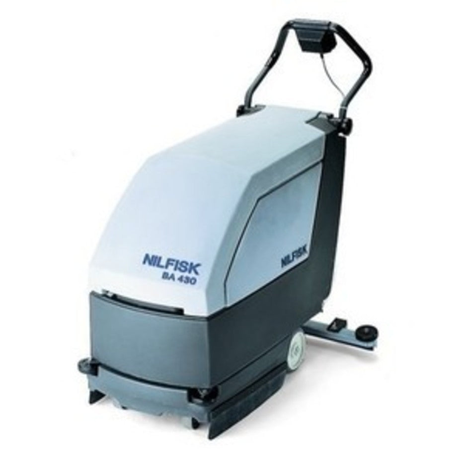 Nilfisk BA430 and Advance Micromatic 17 Battery Operated Floor Scrubber Front Castor - TVD The Vacuum Doctor