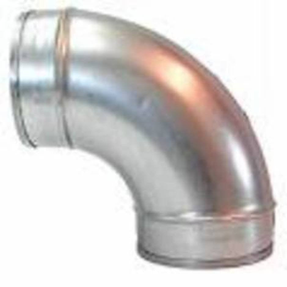 NilfiskCFM Zinc Plated 89mm 90 Degree Elbow For Ducted Vacuum Systems - TVD The Vacuum Doctor