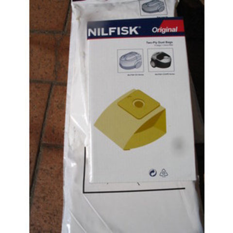 Nilfisk Coupe Parquet and Go Dustbags Pack of 5 UNAVAILABLE See PN78602600 - TVD The Vacuum Doctor
