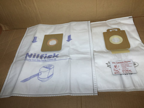 Nilfisk GM200 GM300 and GM400 Dustbags 5 pack NOW OBSOLETE see 107407940 - TVD The Vacuum Doctor