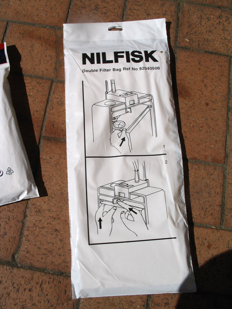 Nilfisk GU350 and GU450 Upright Vacuum Dustbags 5 Pack Plus Microstatic Filter