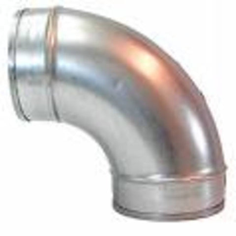 NilfiskCFM Zinc Plated 90 degree 70mm Industrial Ducted Vacuum System Steel Elbow - TVD The Vacuum Doctor