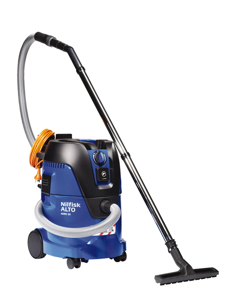 Nilfisk-Alto Aero 26-21 Push2Clean Wet and Dry Vacuum Cleaner Replaced By VL200 - TVD The Vacuum Doctor