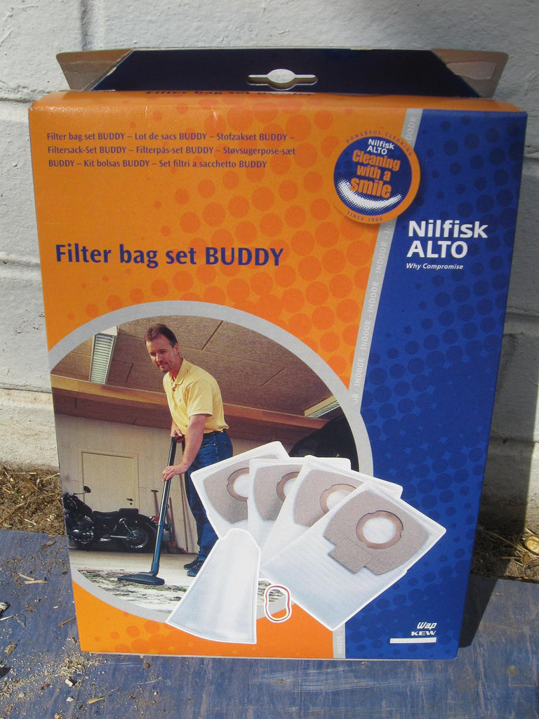 WAP By Nilfisk-Alto Buddy 18 Wet and Dry Vacuum Cleaner Dustbags Pack of 4 - TVD The Vacuum Doctor