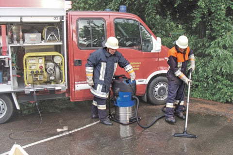 Nilfisk-Alto 751-71 Wet Pick Up And Pump Out Vacuum Cleaner For Fire Department Use - TVD The Vacuum Doctor