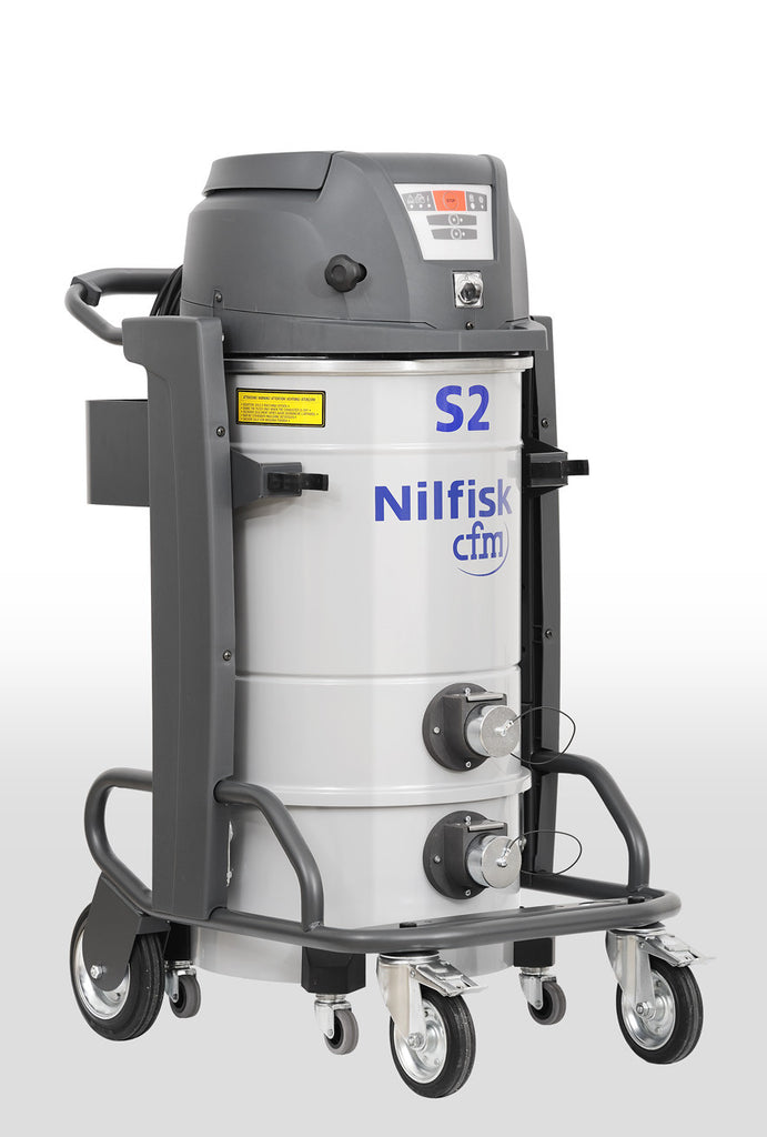 NilfiskCFM S2 Twin Motor Industrial Vacuum Cleaner Complete With Hose Kit - TVD The Vacuum Doctor