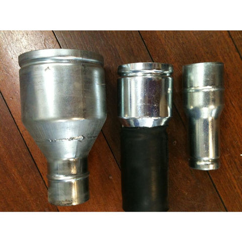 CFM Vacuum Cleaner 70mm to 40mm Steel Reducer For Container To Hoses - TVD The Vacuum Doctor