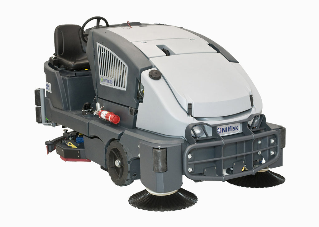 Nilfisk CS7000 Hybrid LPG Combi Sweeper Scrubber-Drier Complete Package W Ecoflex - TVD The Vacuum Doctor