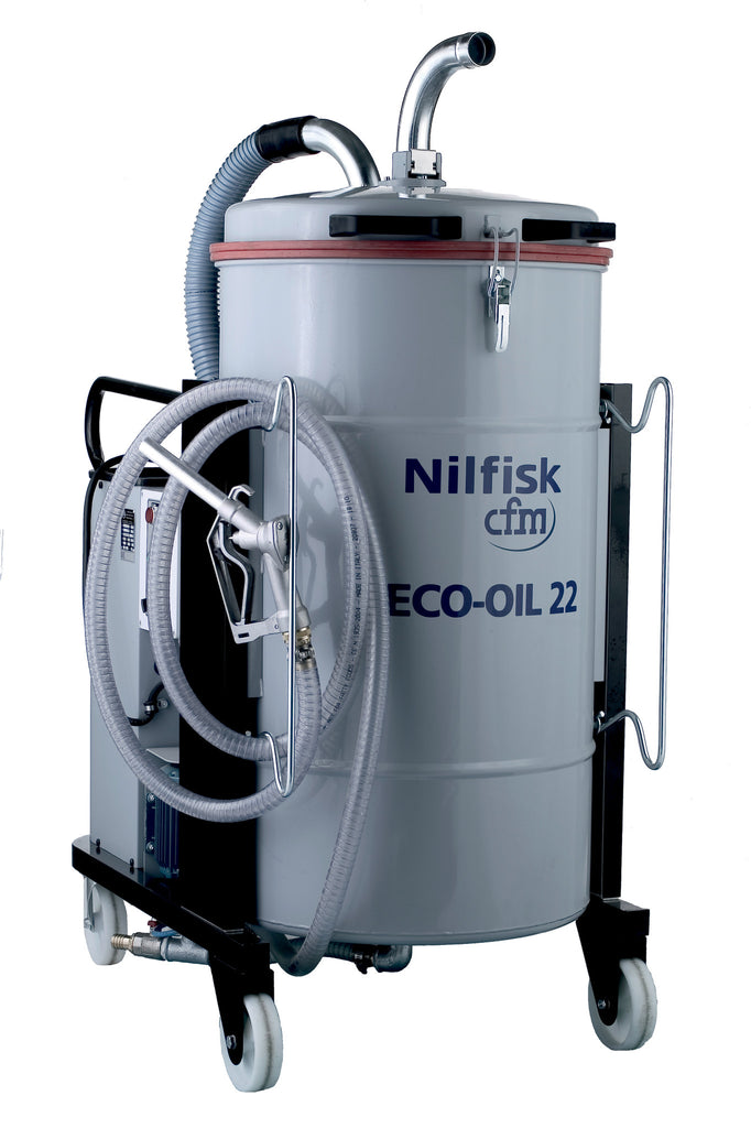NILFISKCFM ECO OIL 22 Recovery Vacuum Cleaner For Industries Using Oil - TVD The Vacuum Doctor